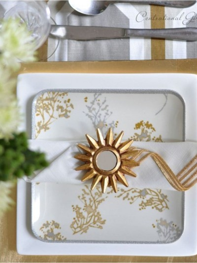 silver gold mixed place setting