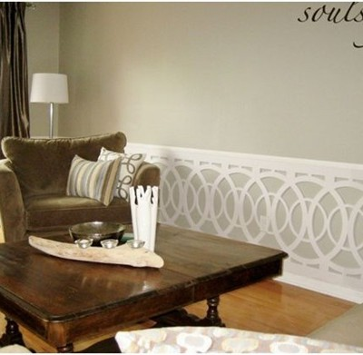 soul style.ca living room wainscot