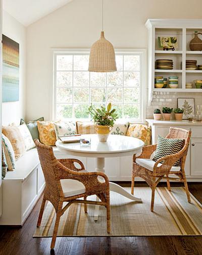 southern living kitchen nook via hookedonhouses
