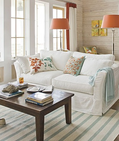 southern living blue and orange