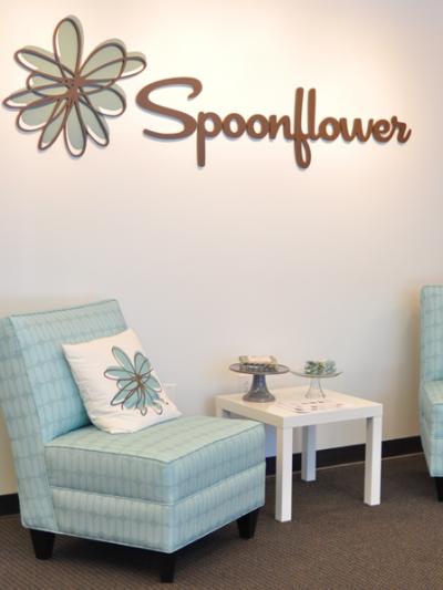 spoonflower headquarters slipper chairs