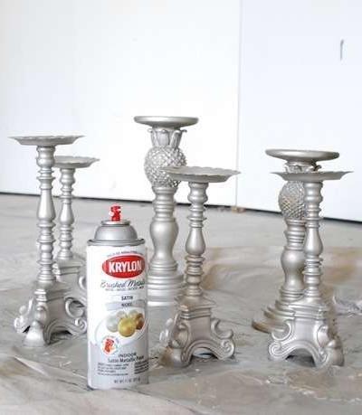 spray paint candlesticks