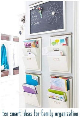 ten smart ideas for family organization