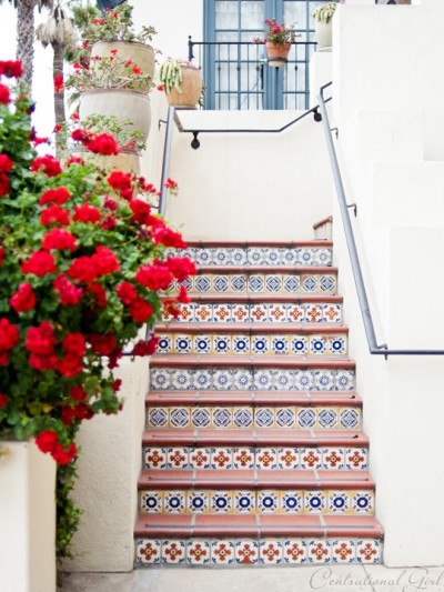 tiled staircase in santa barbara