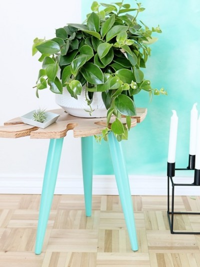 tropical leaf table diy