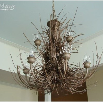 twig chandelier bee interiors blogspot