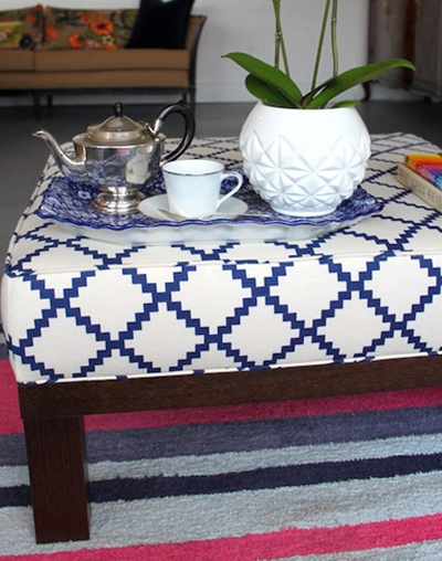 upholstered box cushion