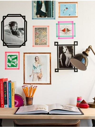 washi tape picture frames