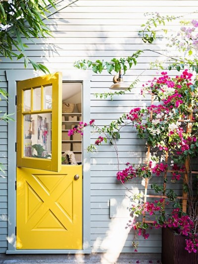 yellow dutch door