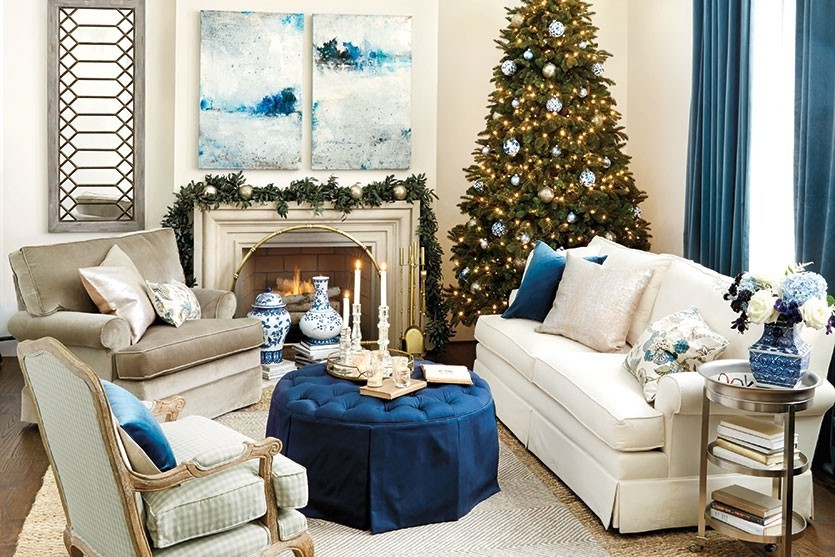ballard designs blue christmas