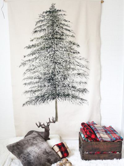 christmas tree wall tapestry