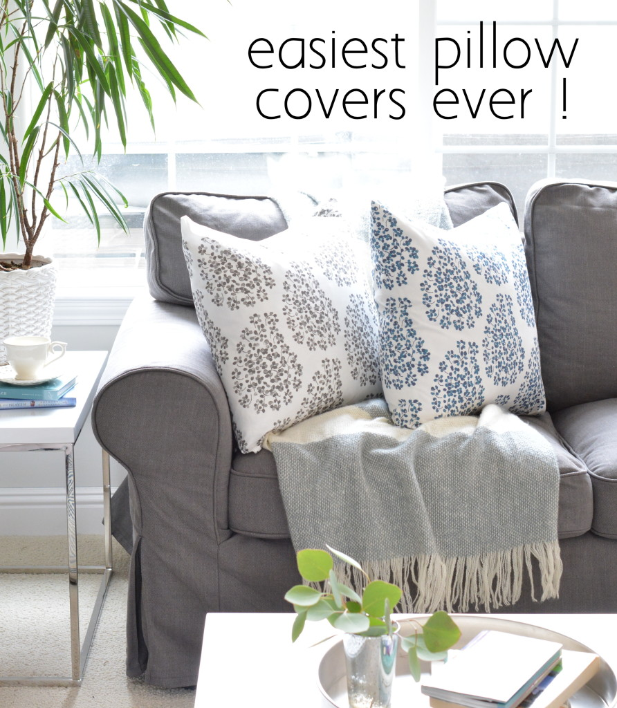 easiest pillow covers ever