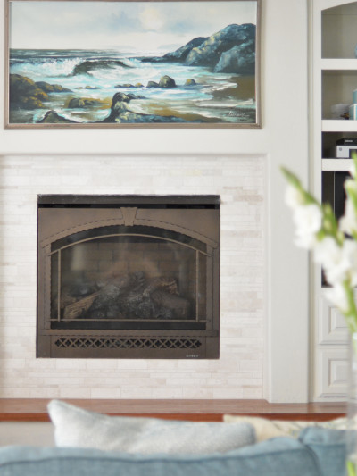 mosaic fireplace tile
