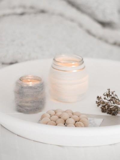 wool candleholders