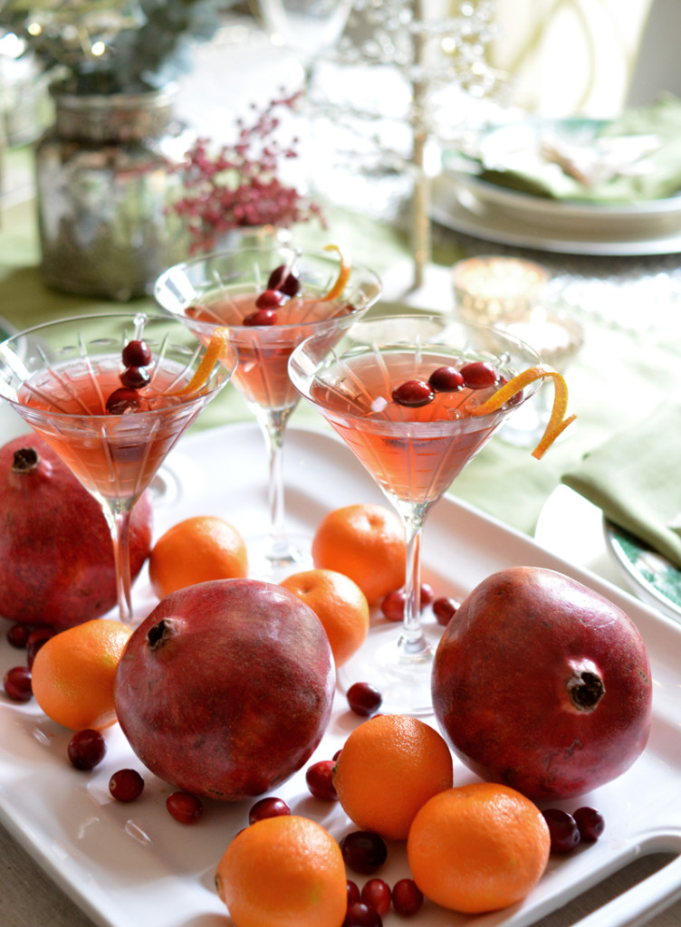 cranberry pomegranate martini