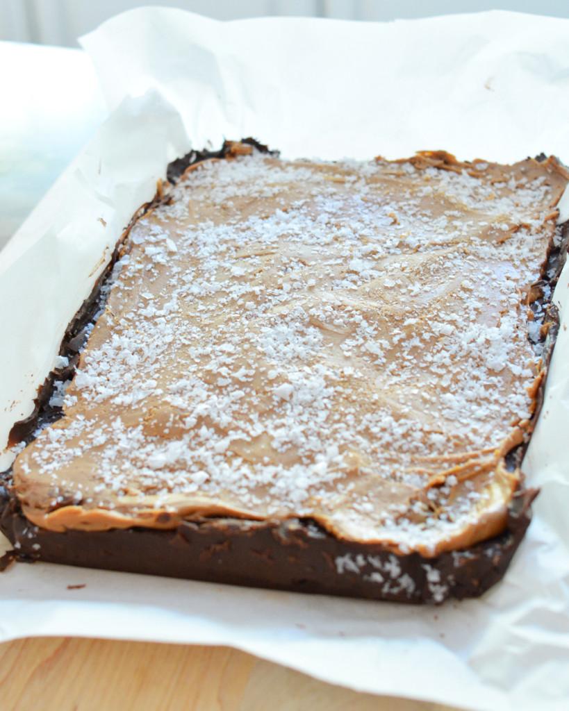 full sheet sea salt caramel fudge