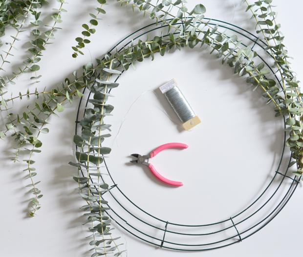 making wreath