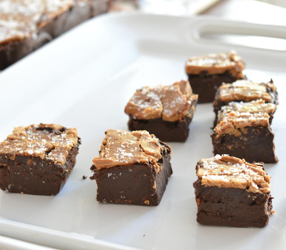 sea salt caramel fudge squares