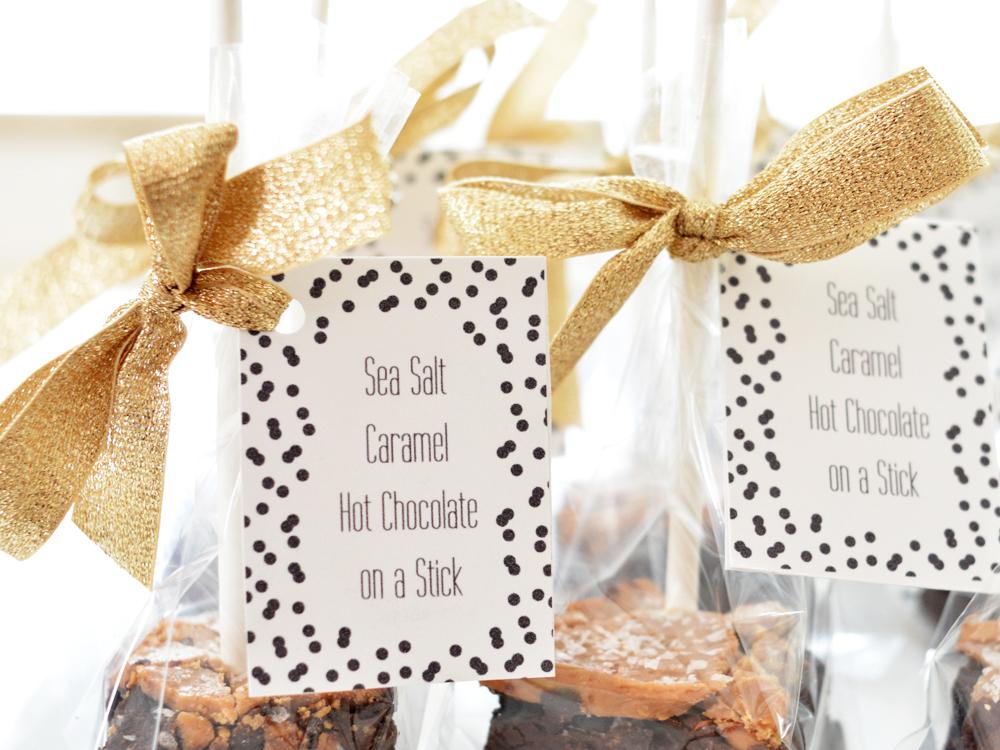 sea salt caramel hot chocolate labels