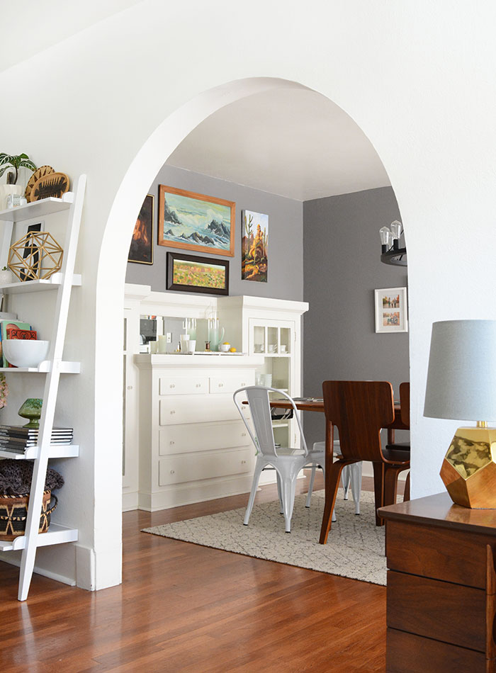 arched dining room entry