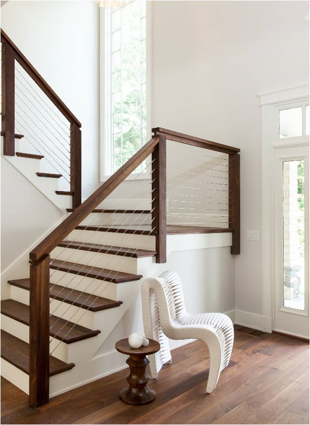 Stunning stair railings centsational style - Give home signature look elegant balustrades ...