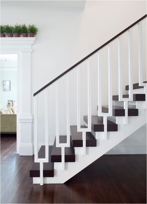 Stunning stair railings centsational girl for Gorgeous modern staircase wall design
