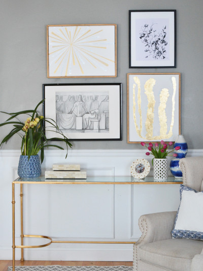 diy gold leaf art