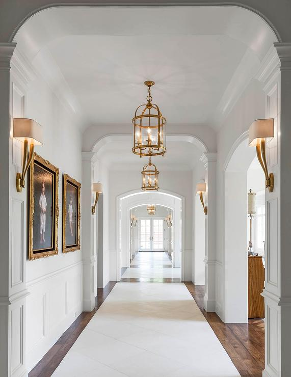 formal hallway arched entry