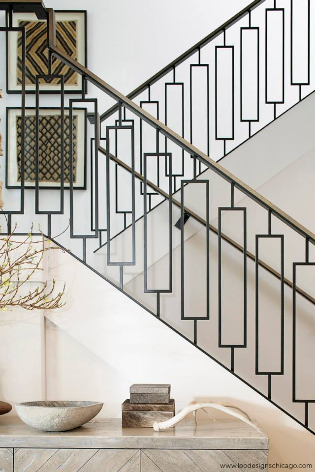 geometric staircase balusters