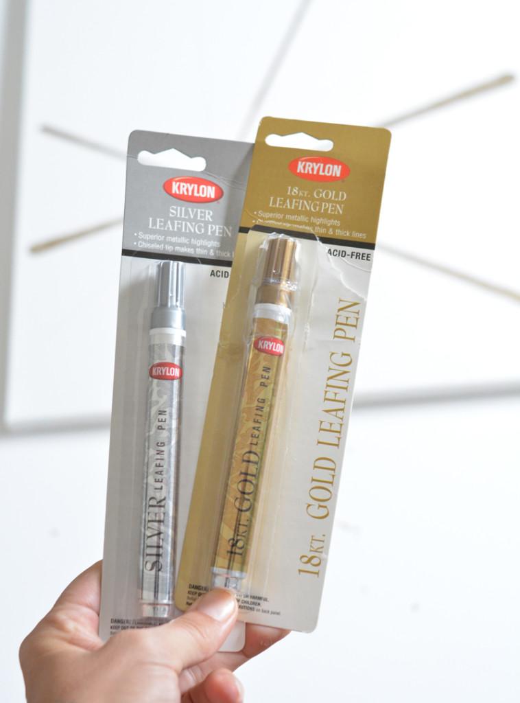gold leafing pens