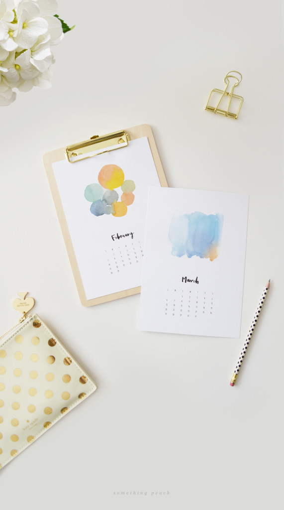 watercolor calendar printable