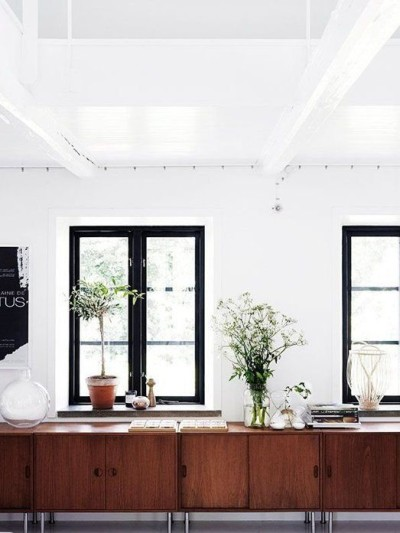 black window frames