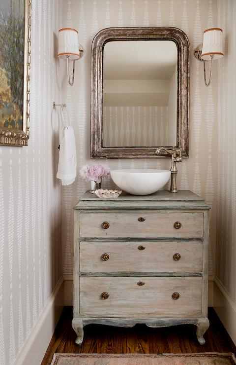 dresser with bowl sink