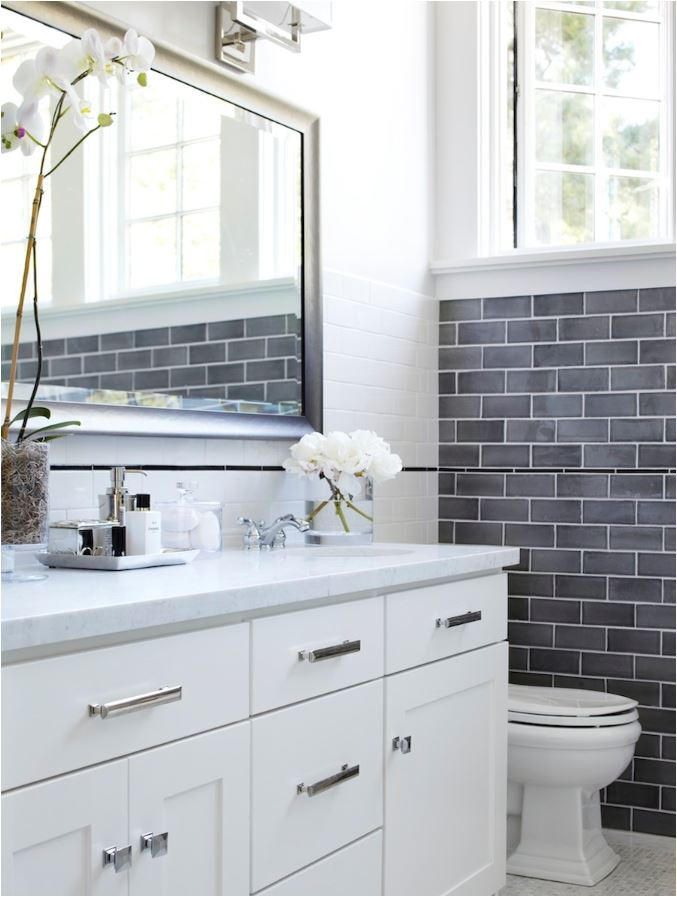 gray white tile medley bathroom
