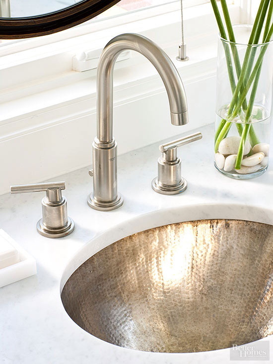hammered nickel sink bhg