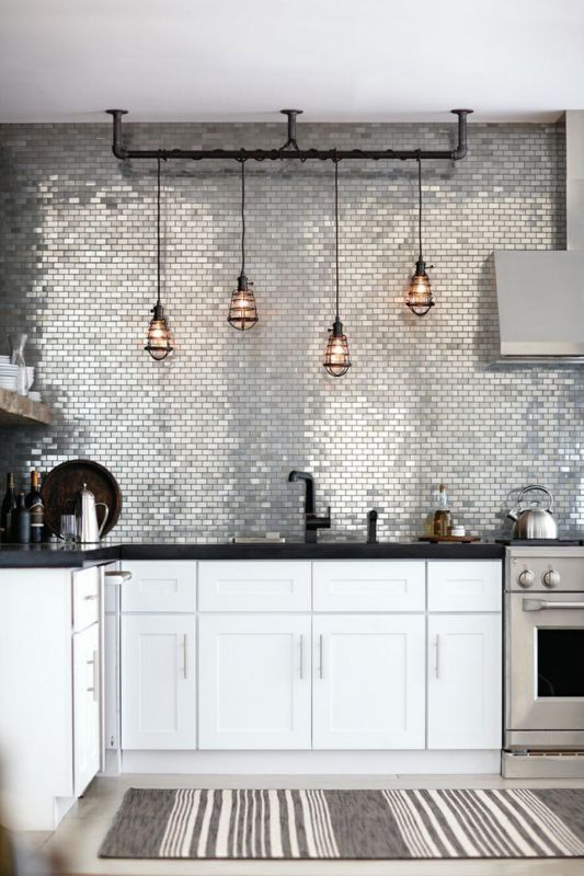 irridescent backsplash