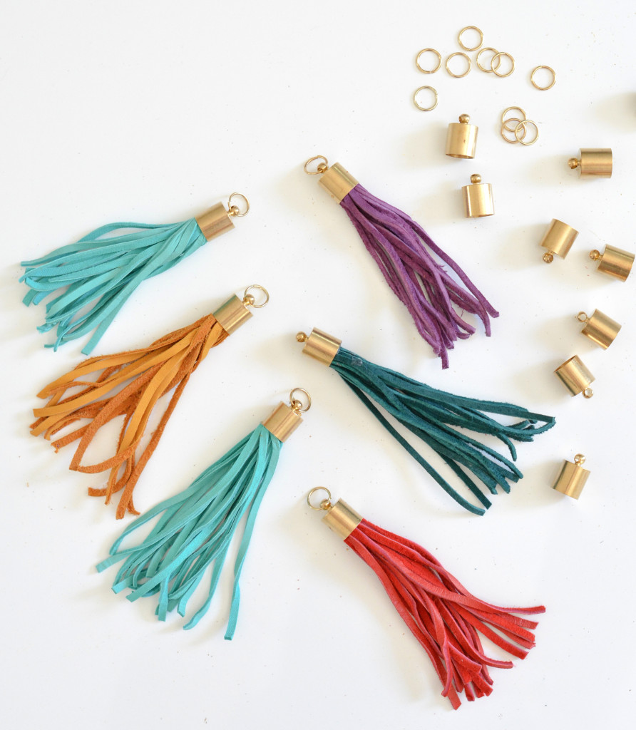 leather tassel diy