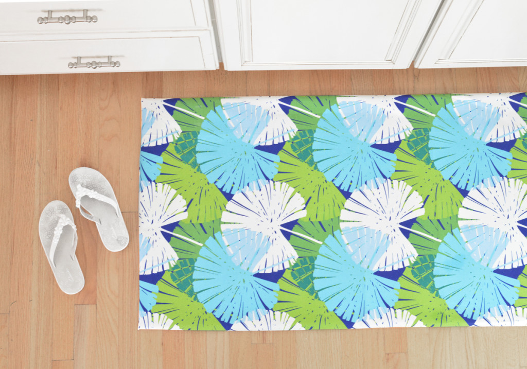 palm print floor mat
