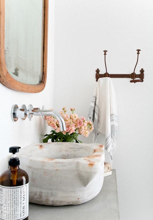 rustic marble bowl sink