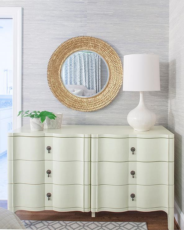cream dresser gold mirror