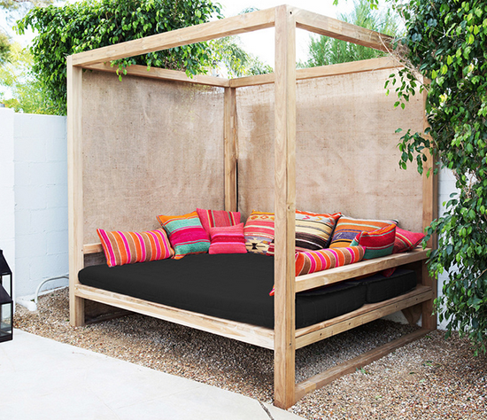 Daydreaming outdoor beds centsational girl for Diy patio bed