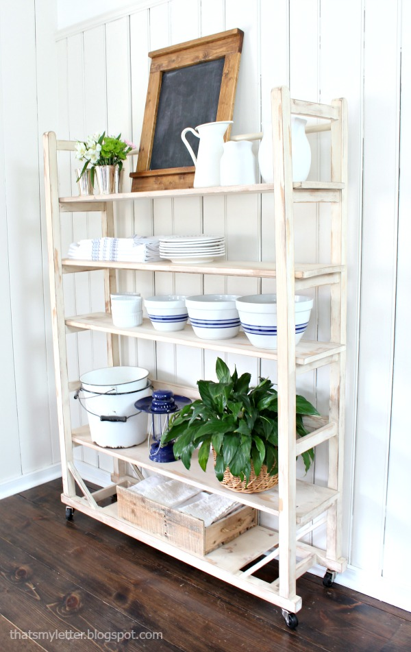vintage inspired shelving