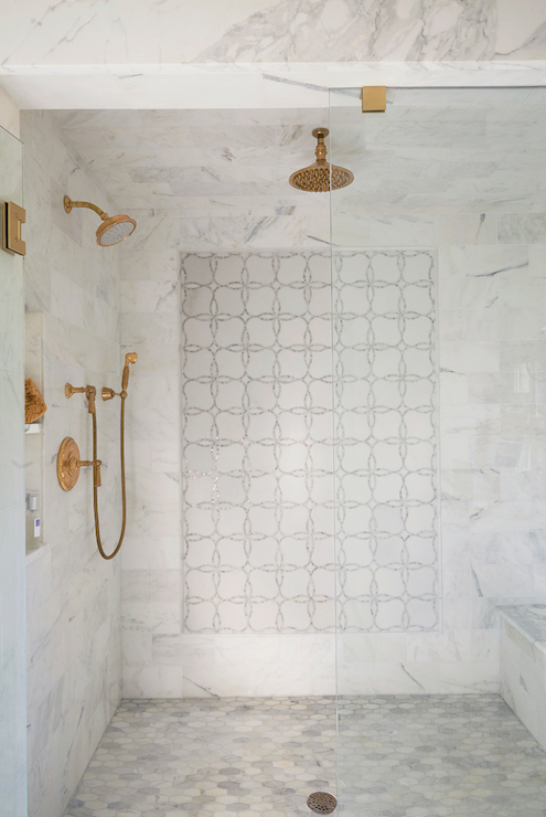 feature pattern shower tile