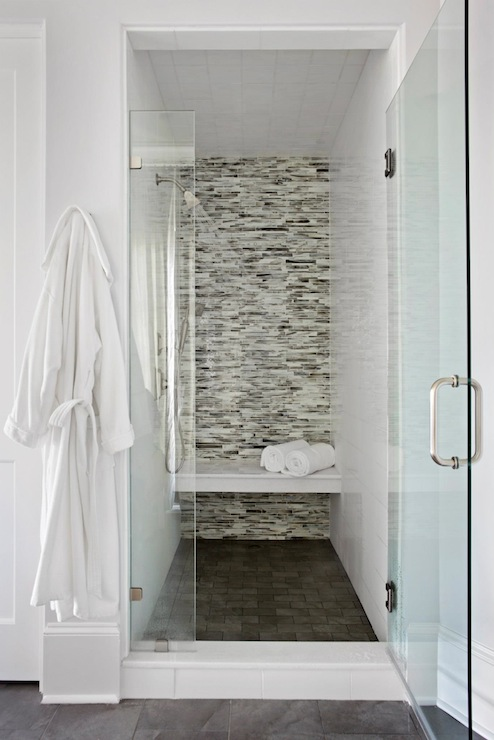 Shower design ideas centsational girl for Feature wall tile ideas