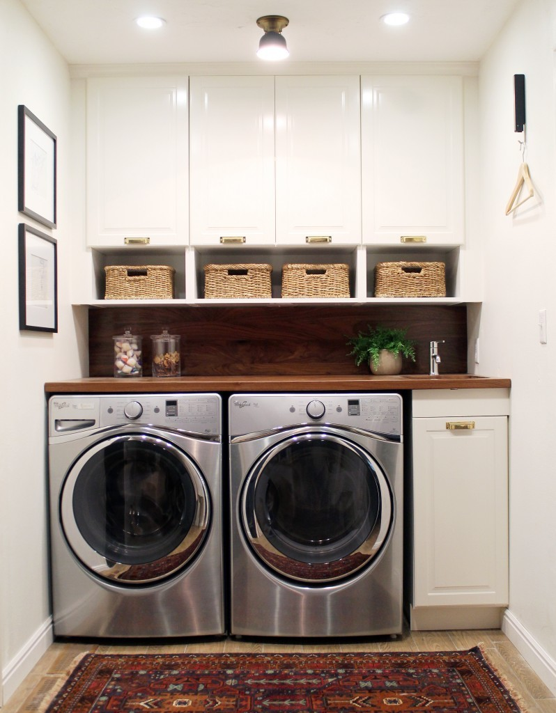 Laundry room makeover ideas centsational girl Tiny room makeover