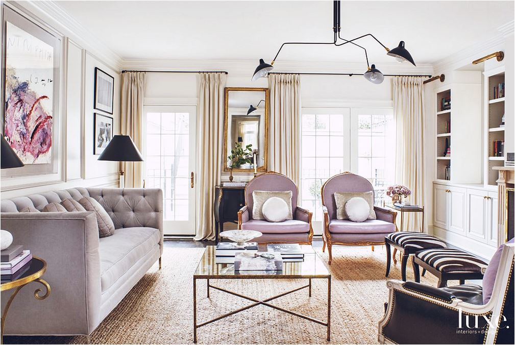 lilac velvet chairs