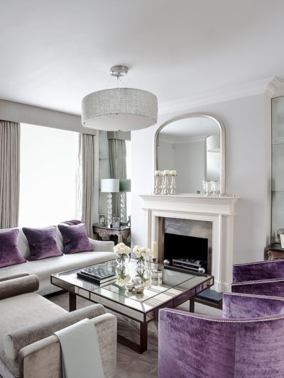 purple velvet accent chairs