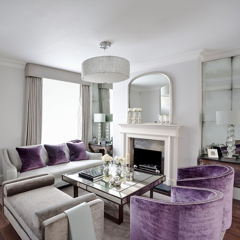 Touches of purple centsational style for Room design violet