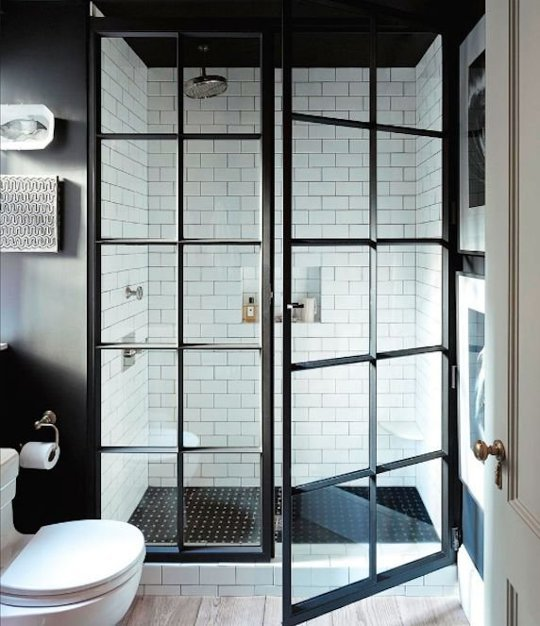 steel shower door