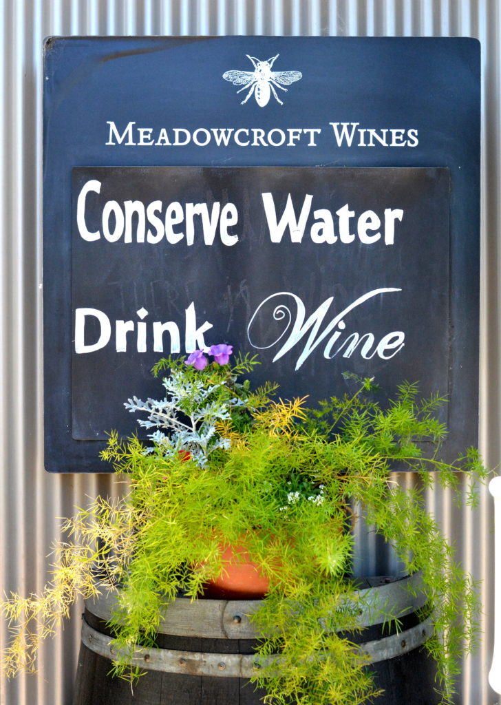 conserve water drink wine